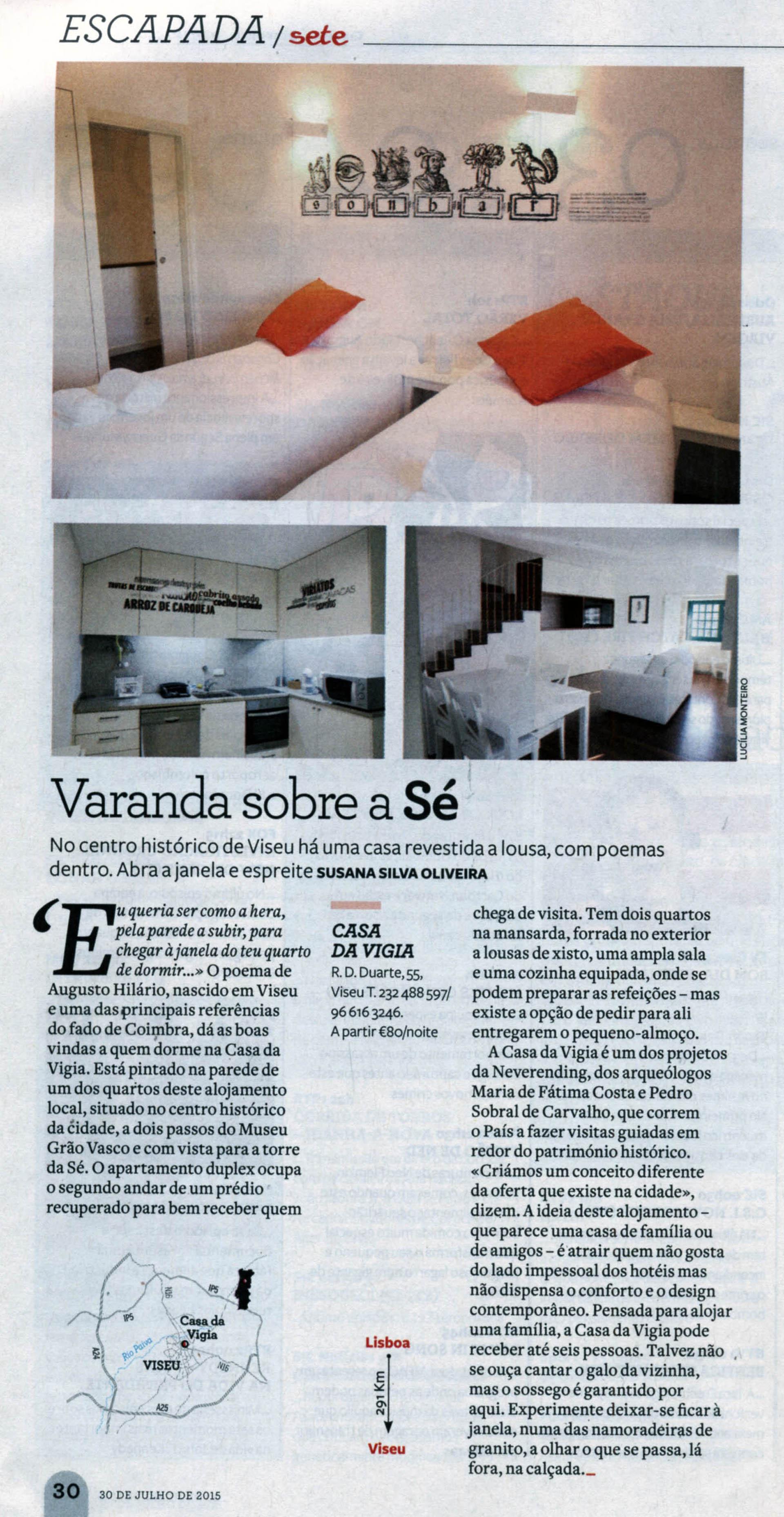 A Casa da Vigia foi notícia na Revista Visão