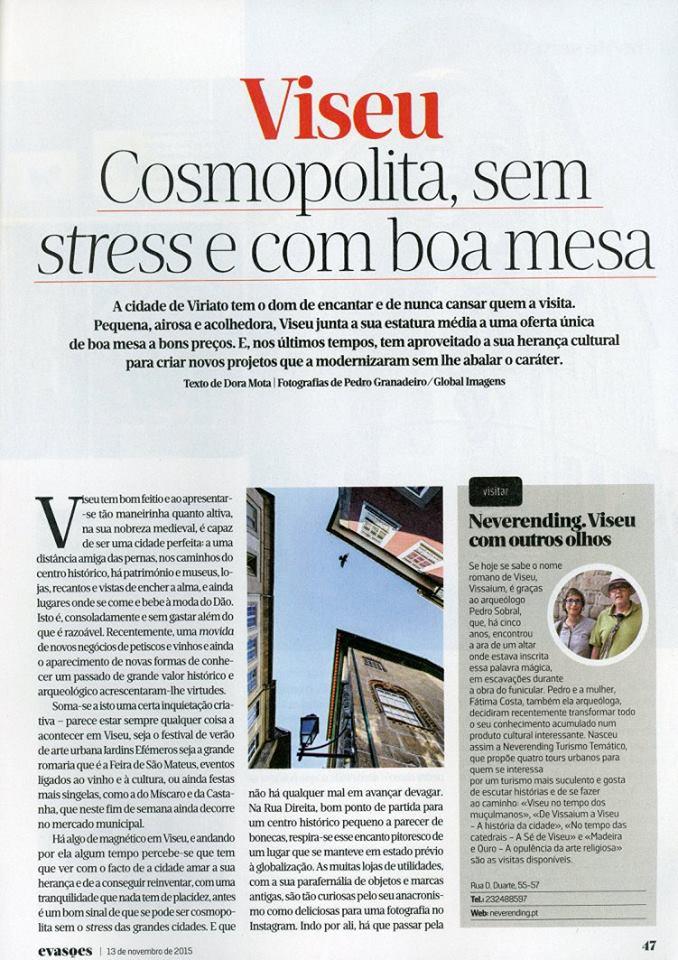 Neverending em destaque no Jornal de Notícias