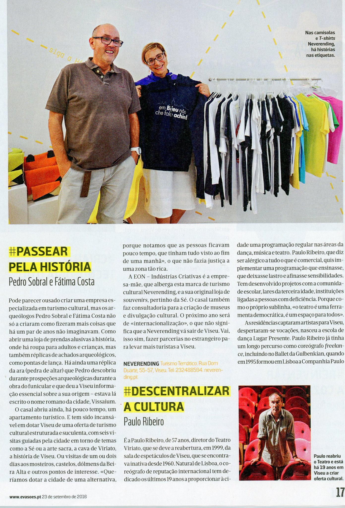 Neverending na revista Evasões